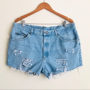 Vintage Lee distressed cutoff shorts - plus size